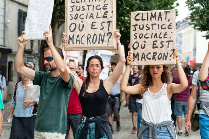 Marche des portraits à Bayonne. Crédit photo : Guénolé Le Gal