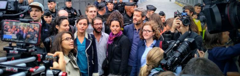 Procès des Décrocheur·ses à Paris - Crédit Photo : Greenpeace France