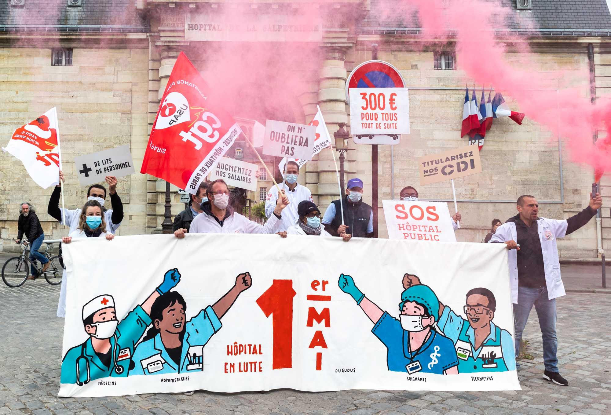 Mobilisation du premier mai 2020 pour la préservation de la santé des travailleurs, travailleuses et des services publics
