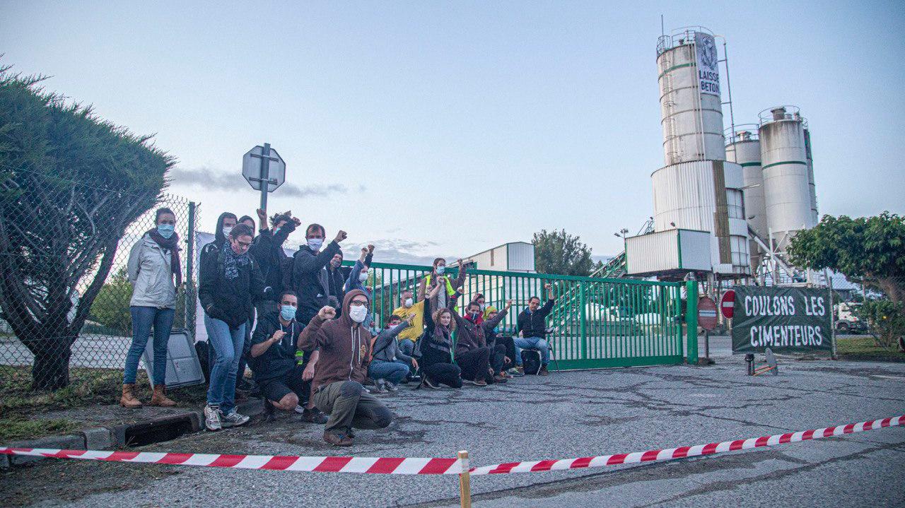 Blocage de l'usine Lafarge Montaudran