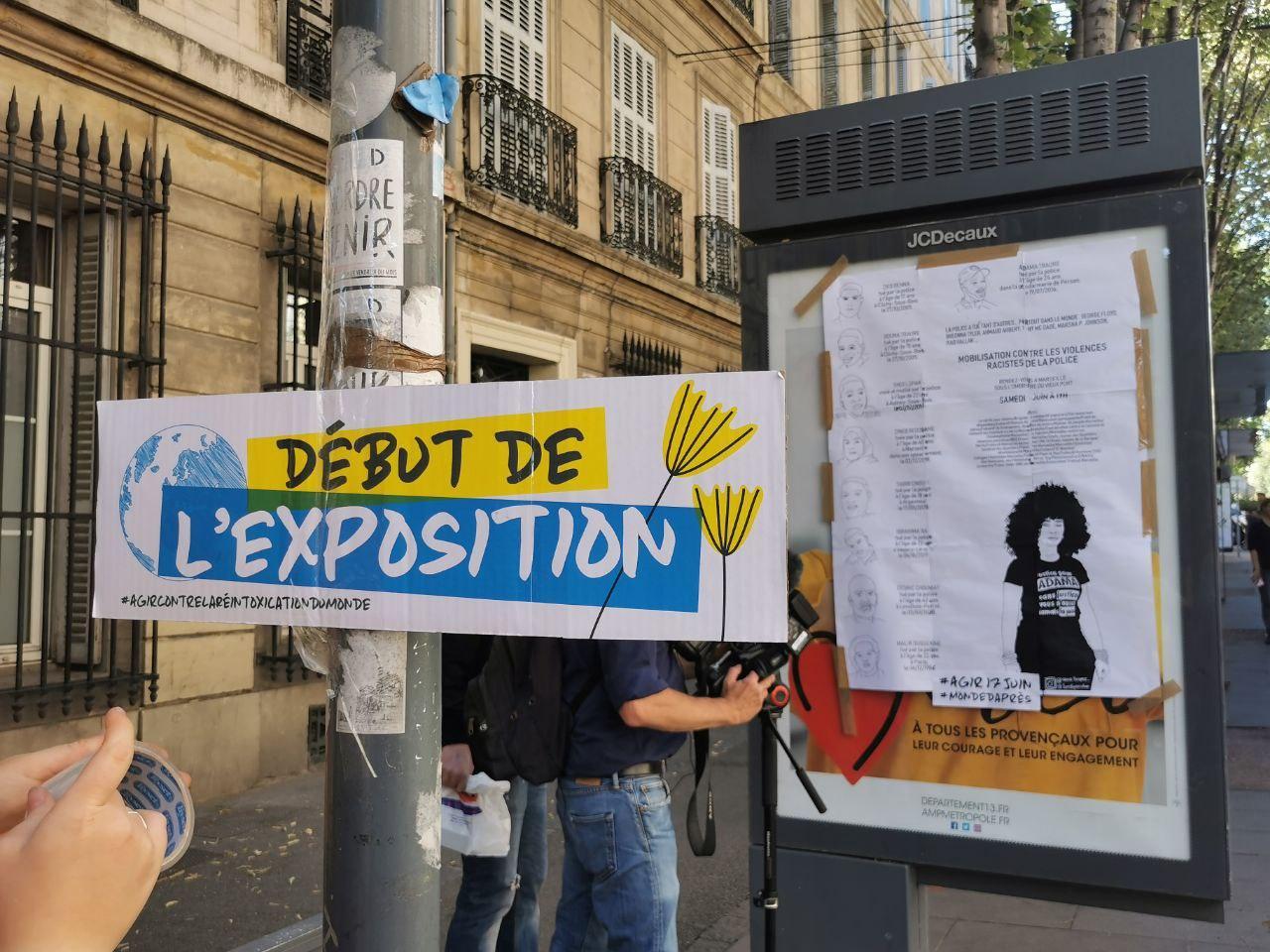 Remplacement des publicités de la ville à Marseille par une exposition d'art