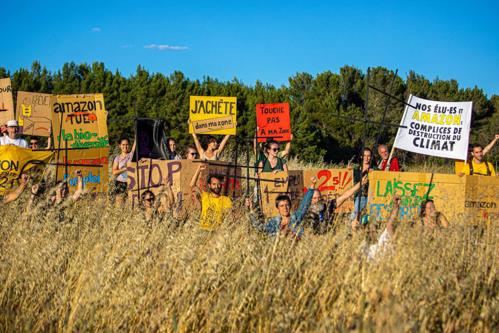 Action ANV-COP21 Montpellier le 17 juin