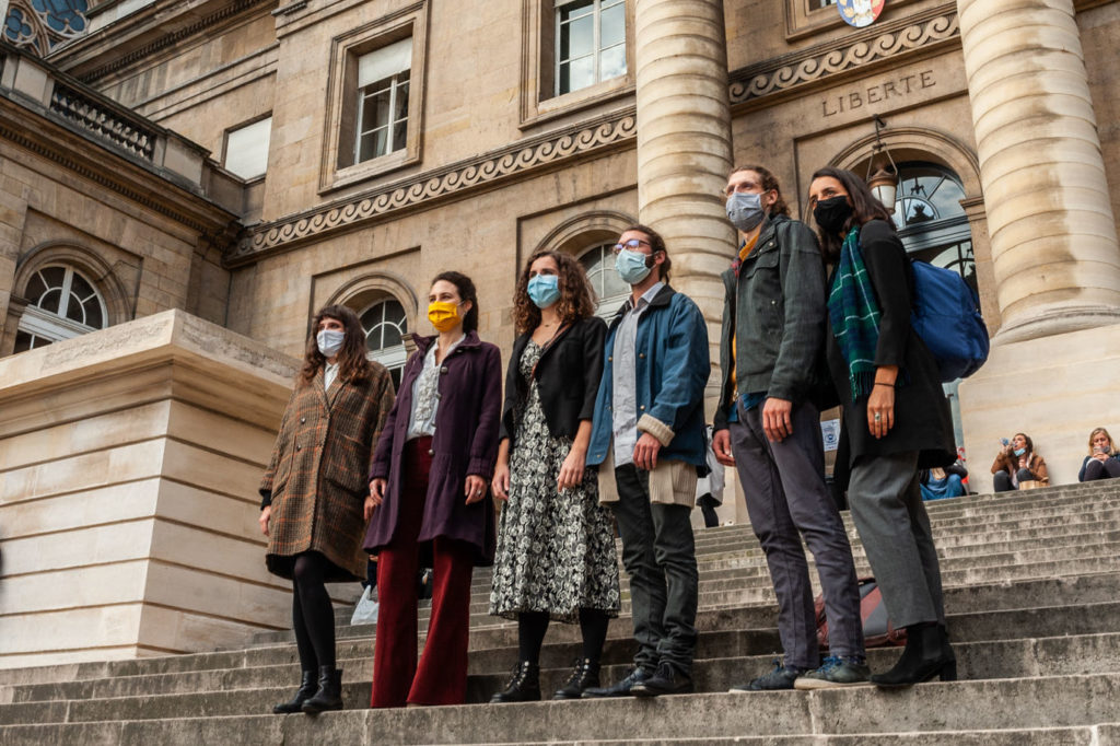 Les Décrocheur·ses en appel à Paris, 22 octobre 2020 – photo Baptiste Soubra