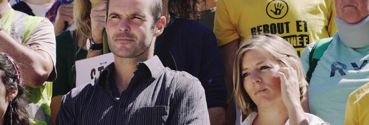 Fanny et Pierre, avant leur entrée au Tribunal, Lyon le 2 septembre – Crédit photo : Alexandre Reigner
