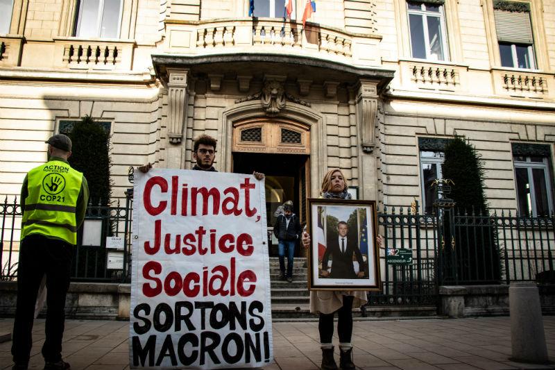 Action Sortons Macron, Lyon