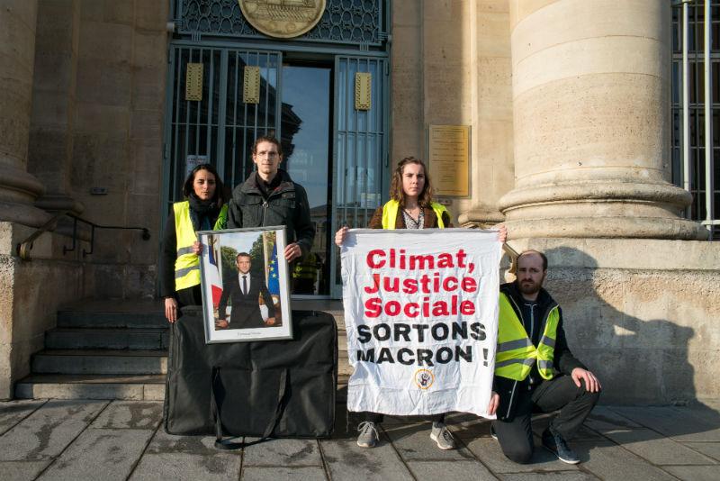 Action Sortons Macron, Paris