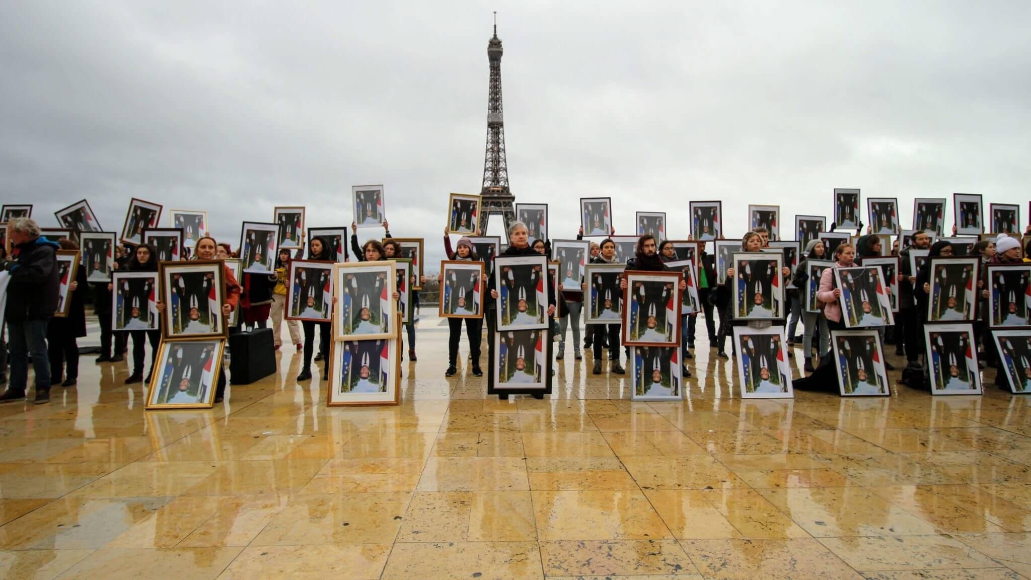18/12/2019 : action portrait Paris Trocadéro ; Crédit photo : Chris Charousset