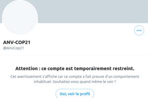 Twitter suspend en nombre des comptes du mouvement climat : image à la une