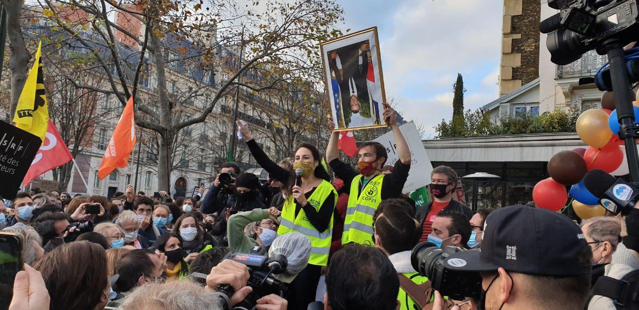 Rassemblement à Paris le 21 Novembre contre la loi Sécurité Globale. Crédit Patrick Gomès-Léal