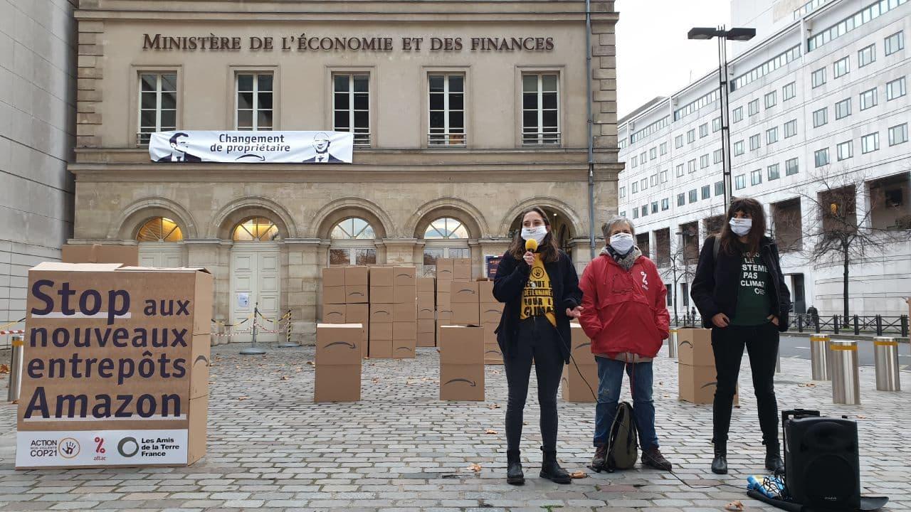 Action Stop Amazon Ministère économie