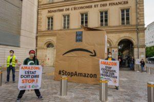 Contre l'expansion d'Amazon : ANV-COP21, Attac, Amis de la Terre et Action Climat Paris se mobilisent : image à la une