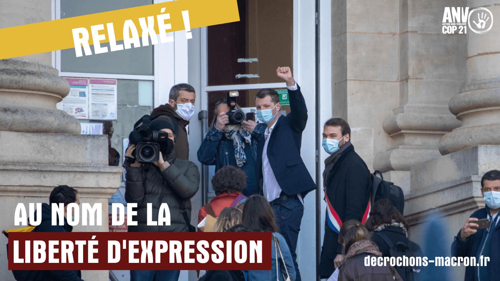 Gaspard devant le tribunal d'Amiens – crédit photo : Edouard