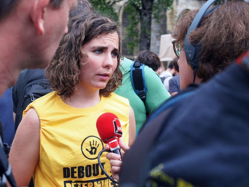 Interview par France Inter à la Marche des portraits, Bayonne le 25 août 2019